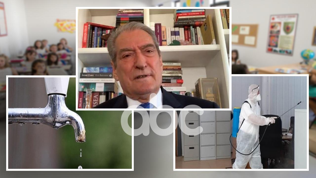 """Berisha në ABC: Shkollat """"bomba"""" të Covid-it, mungon uji dhe fondet për dezinfektimin"""