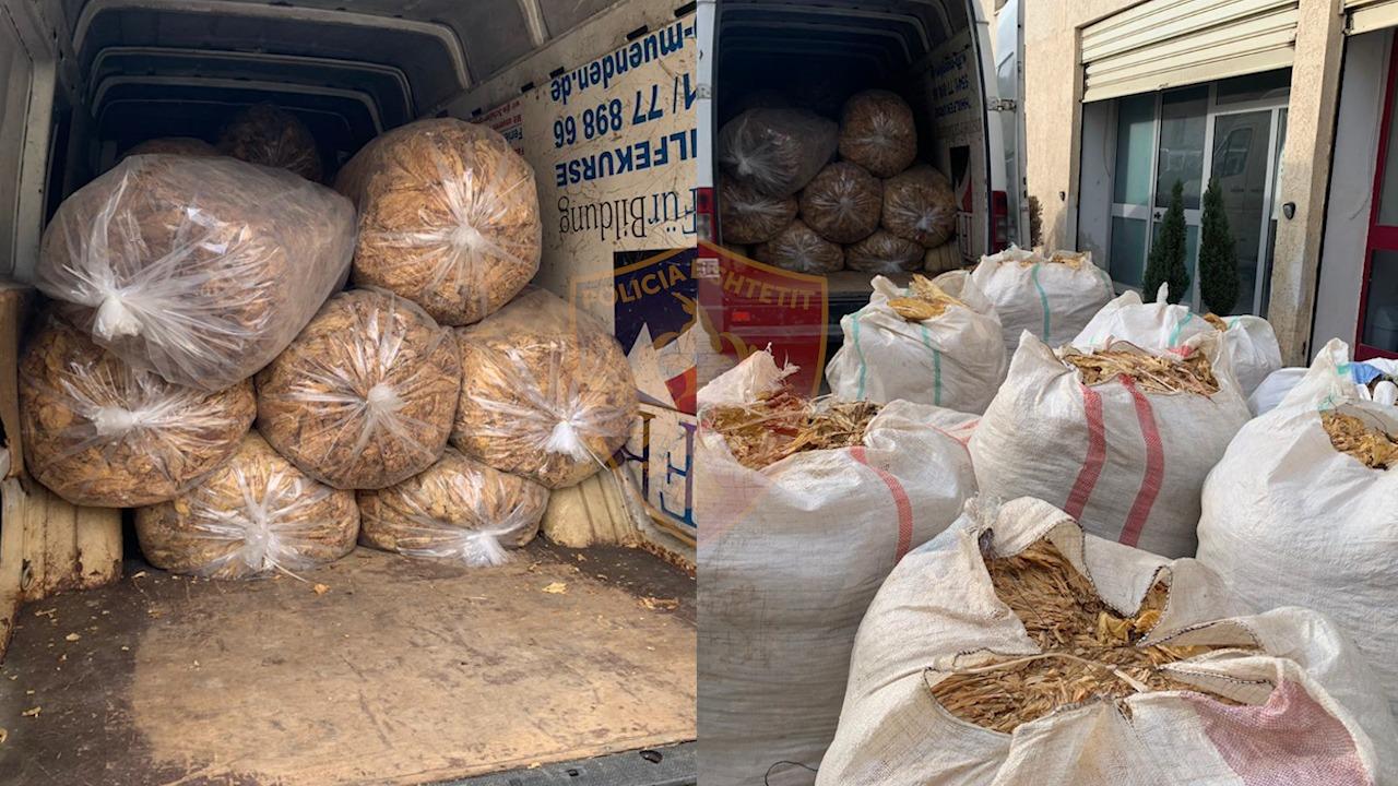 Me 930 kg duhan kontrabandë në makinë, arrestohet 38 vjeçari në Kukës