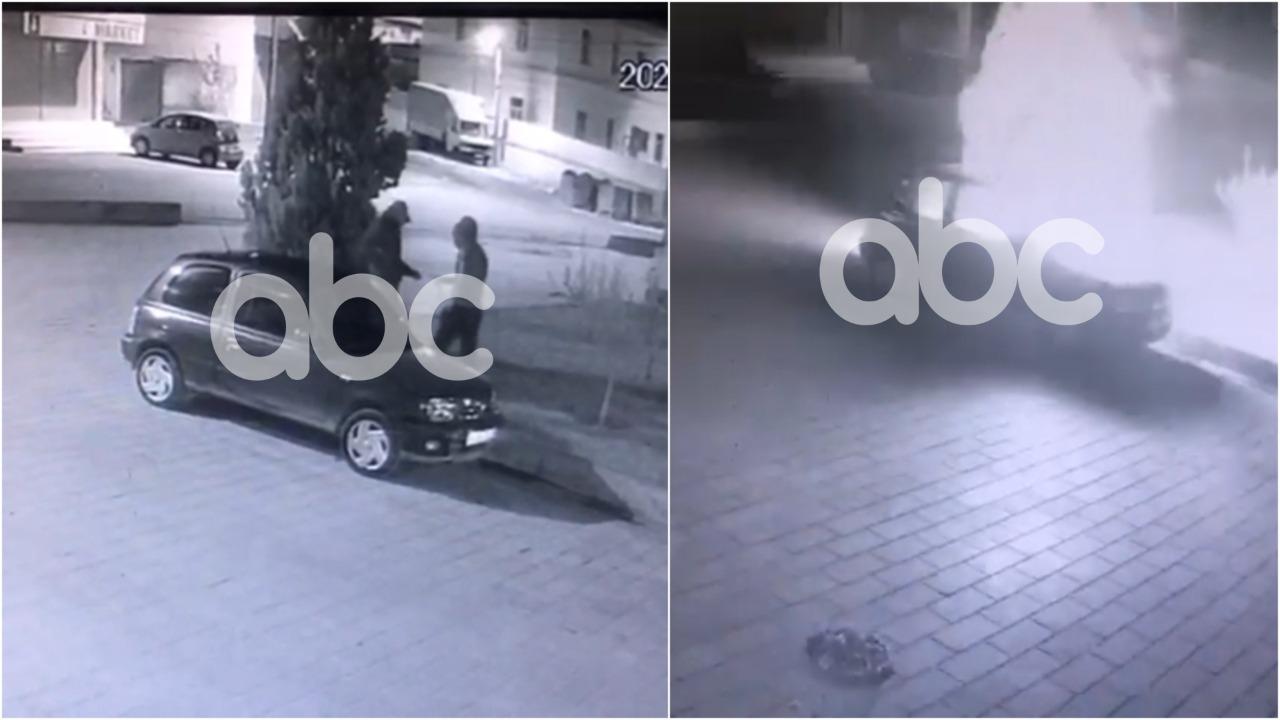 Momenti kur autorët i vënë flakën makinës së shefit të Paraburgimit në Vlorë, ABC siguron pamjet