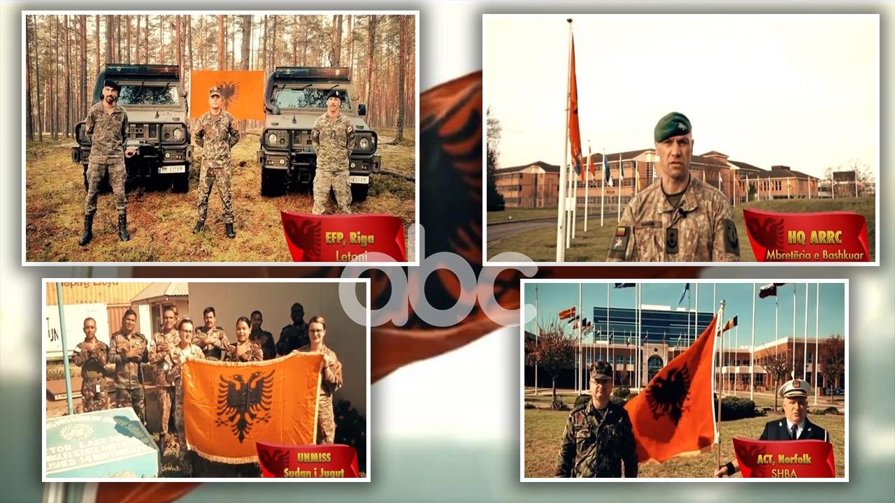 VIDEO/108 vjetori i Pavarësisë,flamuri shqiptar valëvitet në çdo mision të NATO, BE & OKB