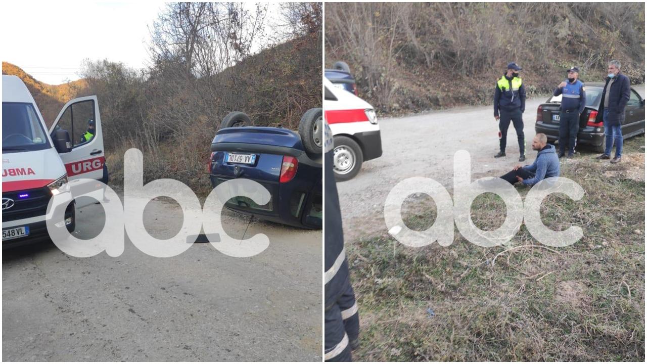 VIDEO/ Shoferi nuk i bindet policisë, aksidentohet makina me sirianë
