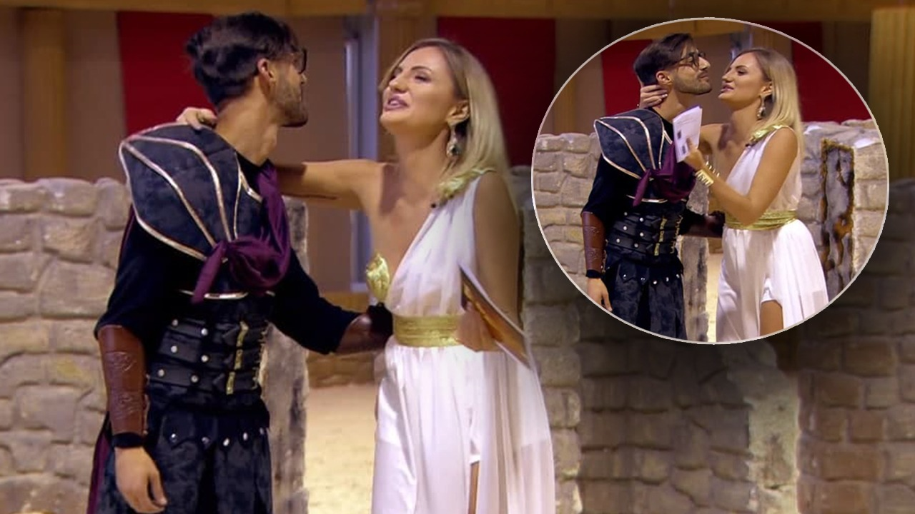 Moment i sikletshëm te 'Gladiatori', moderatorja përgëzon konkurentin, puthja 'përfundon' në buzë