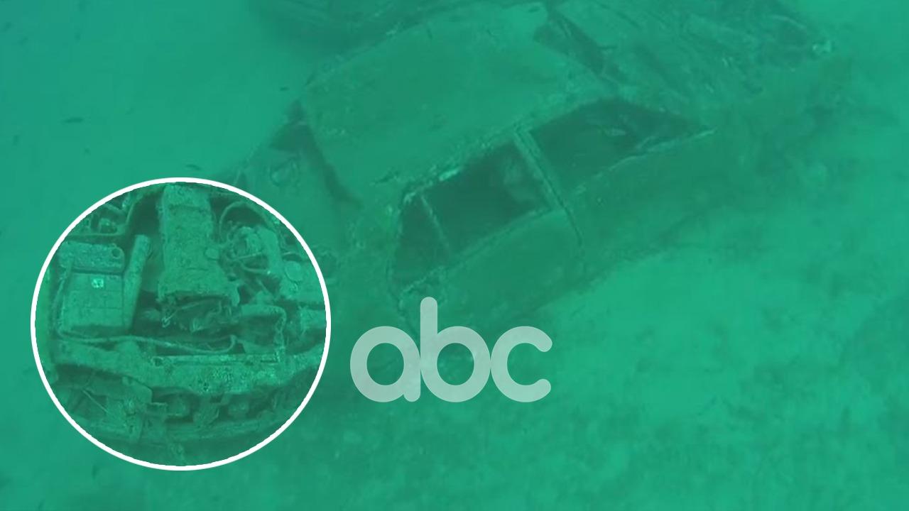 VIDEO/ Gjenden dy makina në det në zonën e Sarandës, mister rrethanat