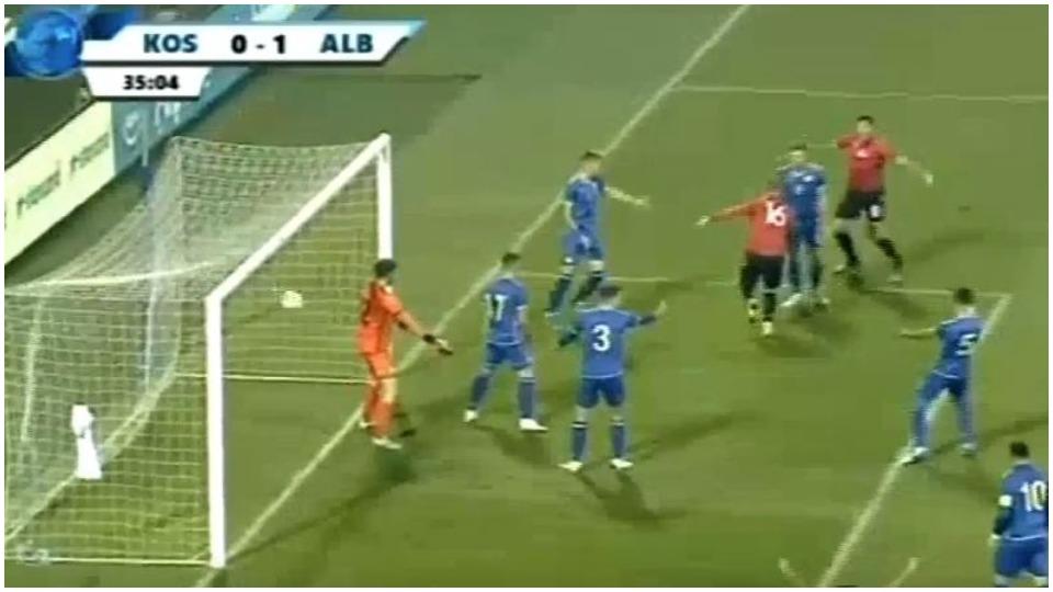 VIDEO/ Goli i parë me kuqezinjtë, Enis Çokaj kalon Shqipërinë U21 në avantazh