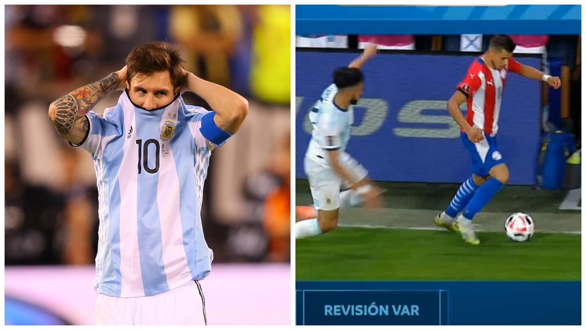 """VIDEO/ """"Na vodhe dy herë"""", Messi tërbohet pas barazimit me Paraguain"""