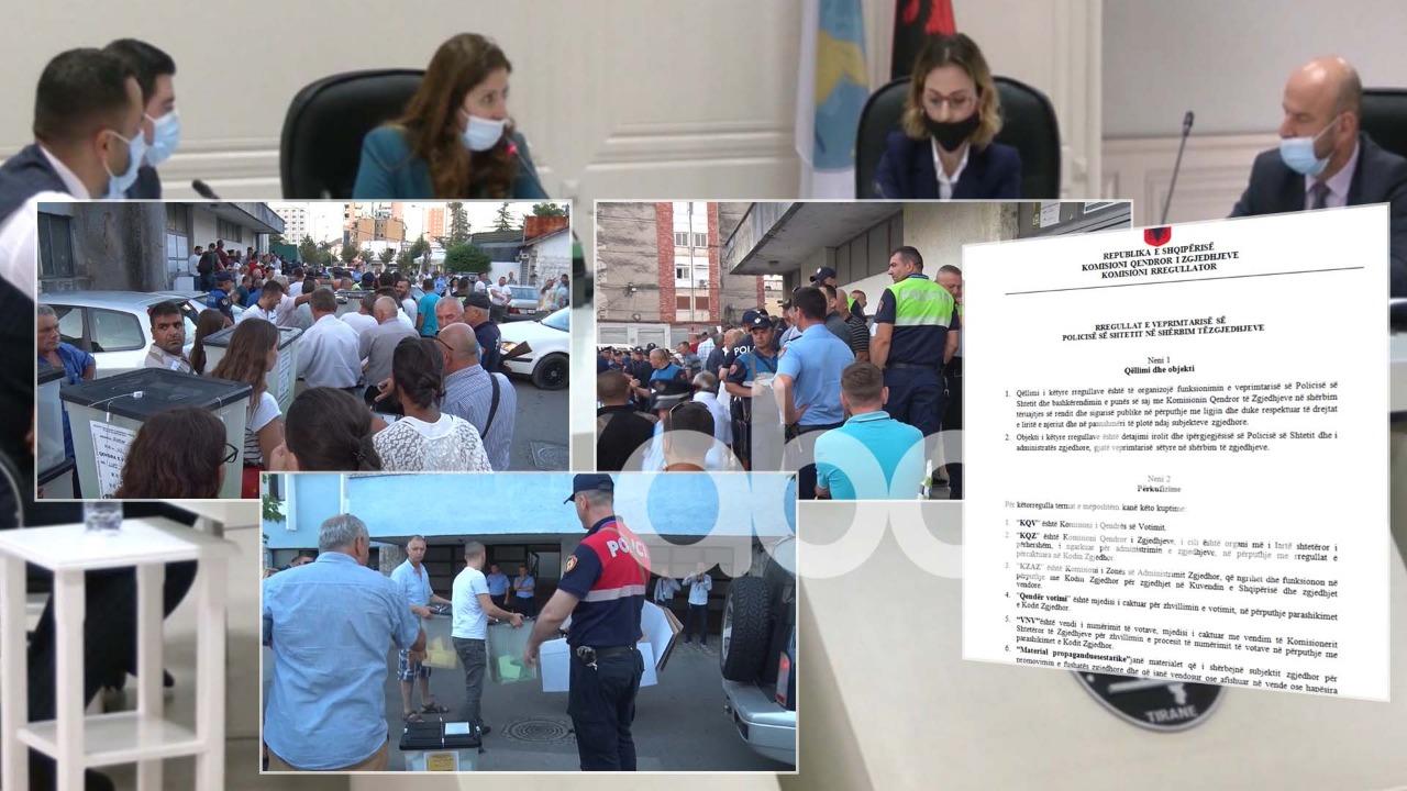 """""""ABC"""" siguron rregulloren e KQZ-së: Policia rikthehet në qendrat e votimit"""
