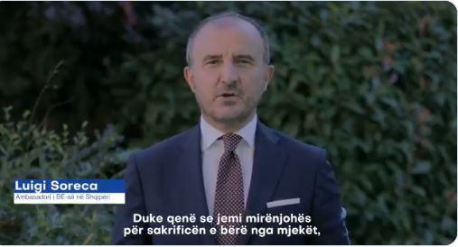 Covid 19, ambasadori Soreca apelon në shqip: Maska ime për ty