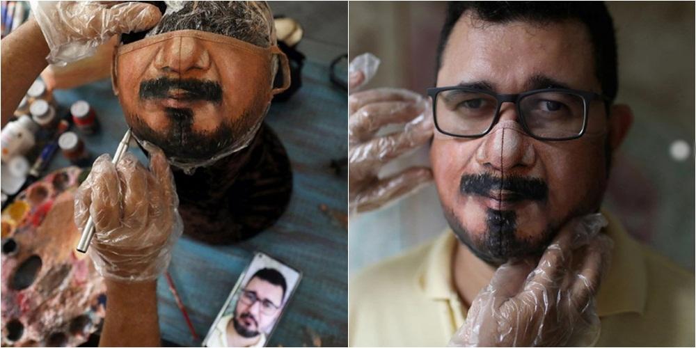 """Maska të pikturuara në detaje, artisti që ndihmon njerëzit të """"ruajnë"""" identitetin në kohë pandemie"""