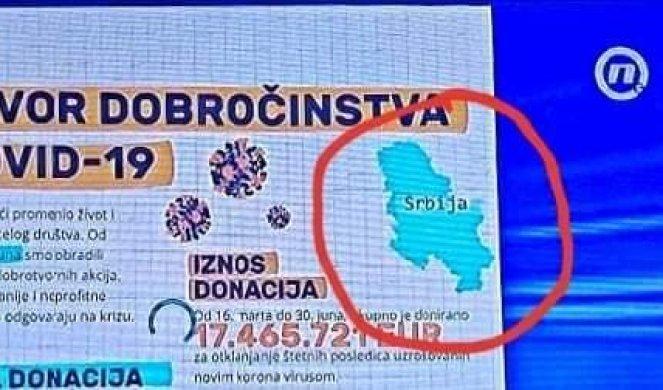 Televizioni serb publikon hartën e Serbisë pa përfshirë Kosovën, reagime në Beograd