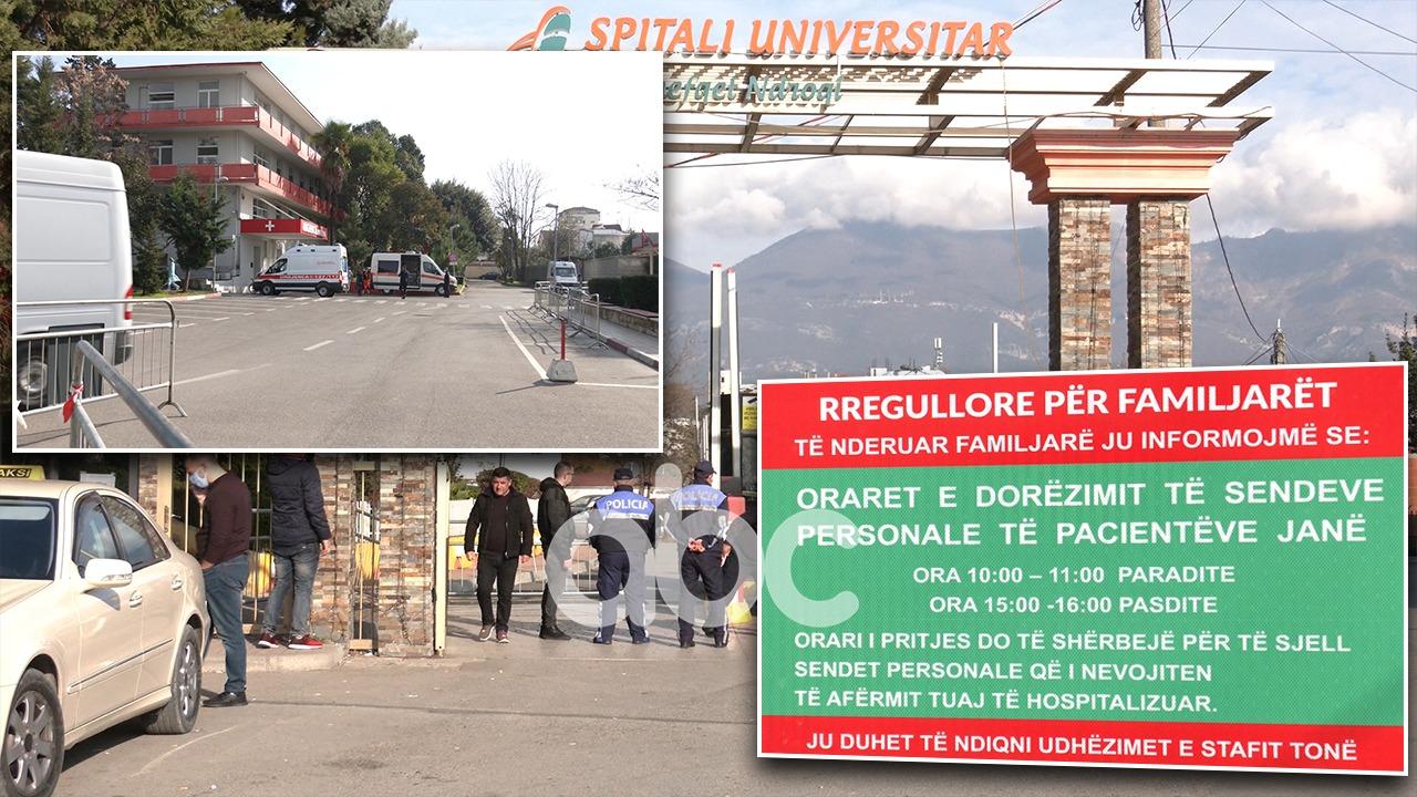 As fluks ambulancash, as familjarësh, e shtunë e qetë në tre spitalet Covid në Tiranë