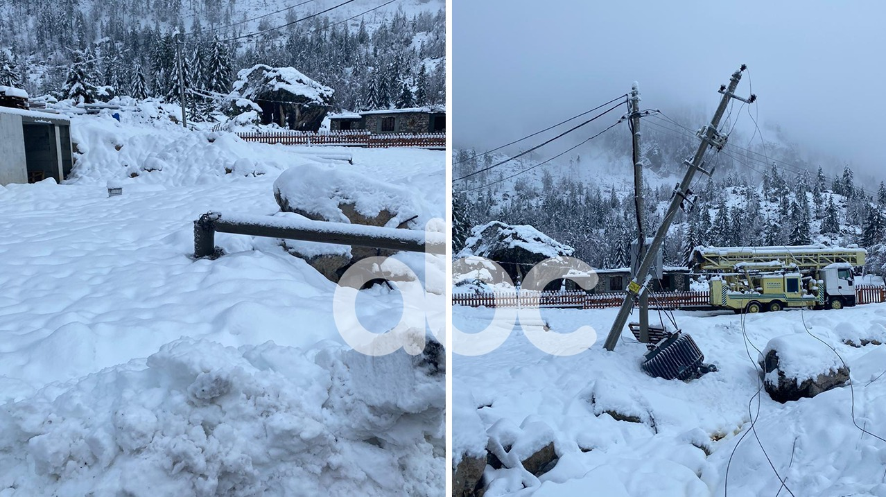 Reshjet e dendura të borës, dëme në rrjetin elektrik të Tropojës