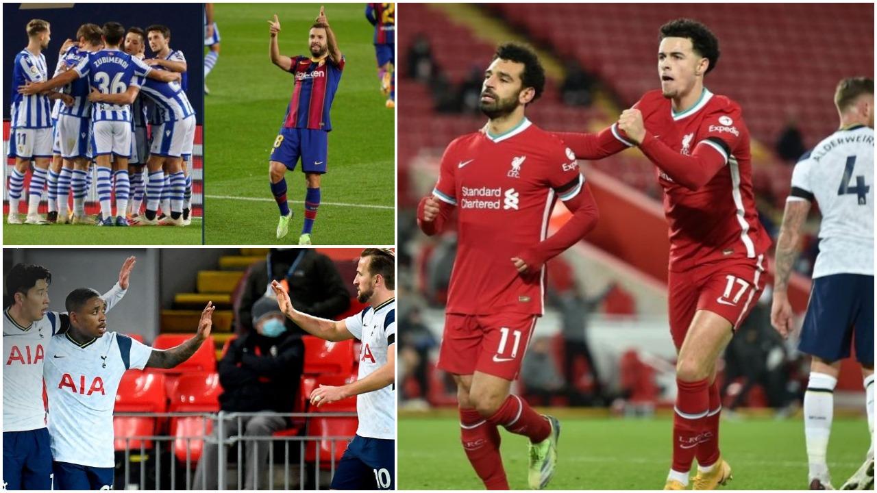 """VIDEO/ Liverpool-Tottenham merr """"zjarr"""", Jordi Alba qetëson Barcelonën"""