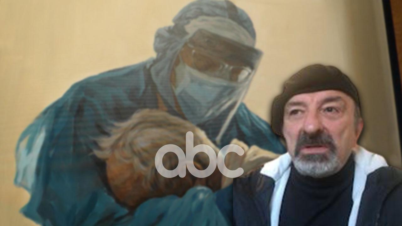 """Agim Sulaj sjell ekspozitën """"Heronjtë"""": Më frymëzoi mjeku që përqafonte pacientin me Covid"""