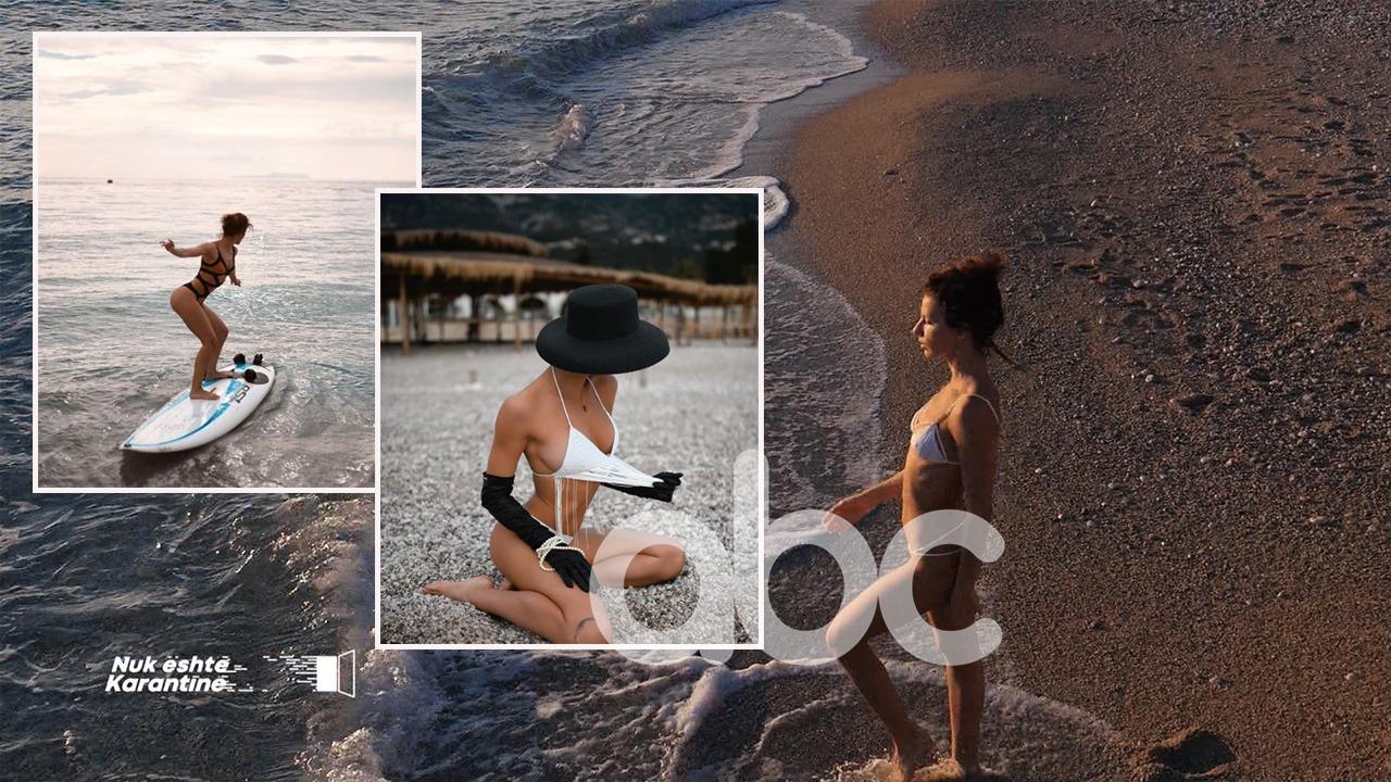 Balerina seksi shqiptare sfidon temperaturat, noton në Jon: Nuk është ftohtë fare