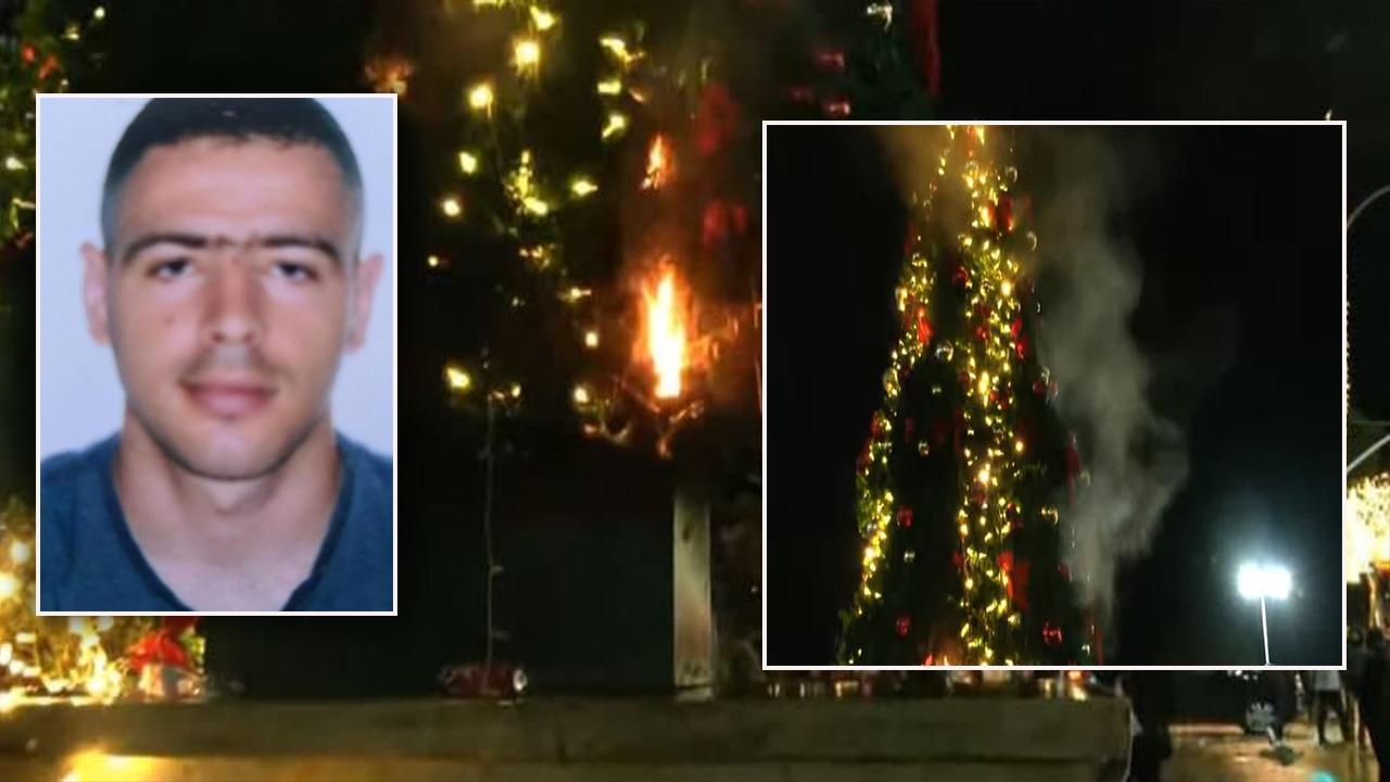Vrasja e Klodian Rashës, protestuesit i vënë flakën pemës së Krishtlindjeve tek Kryeministria