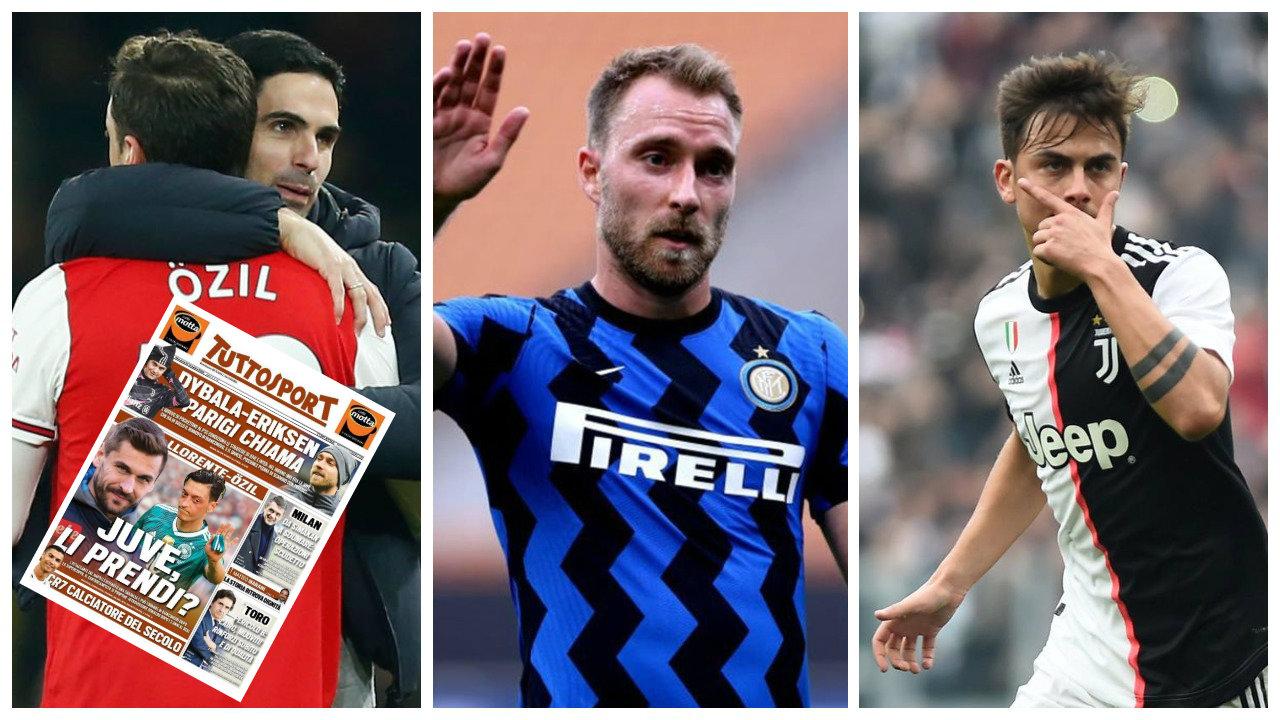 """Mesut Ozil, Paulo Dybala dhe Christian Eriksen: Merkato në Serie A """"zien"""""""