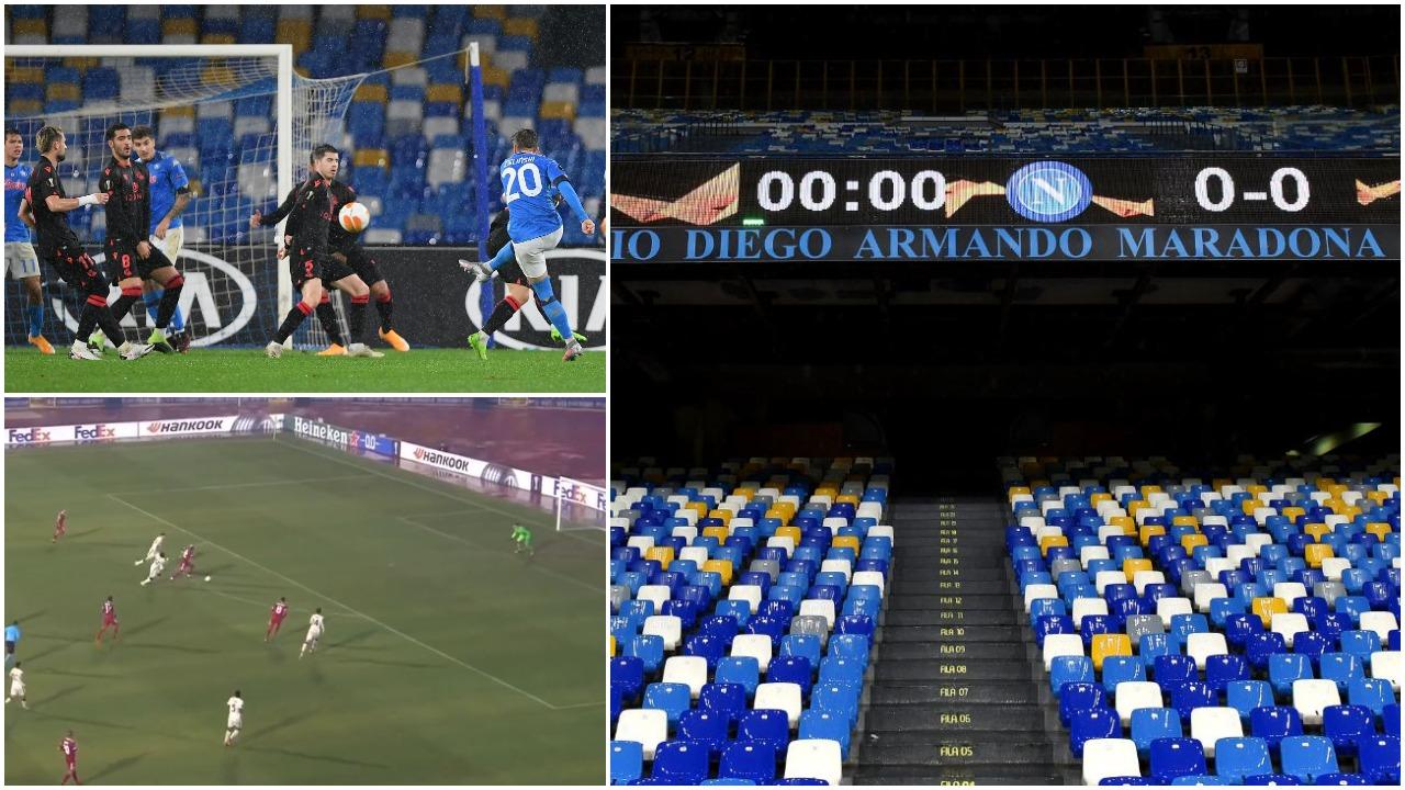 """VIDEO/ Eurogol në """"Diego Armando Maradona"""", ish-i i Skënderbeut ndëshkon Romën"""