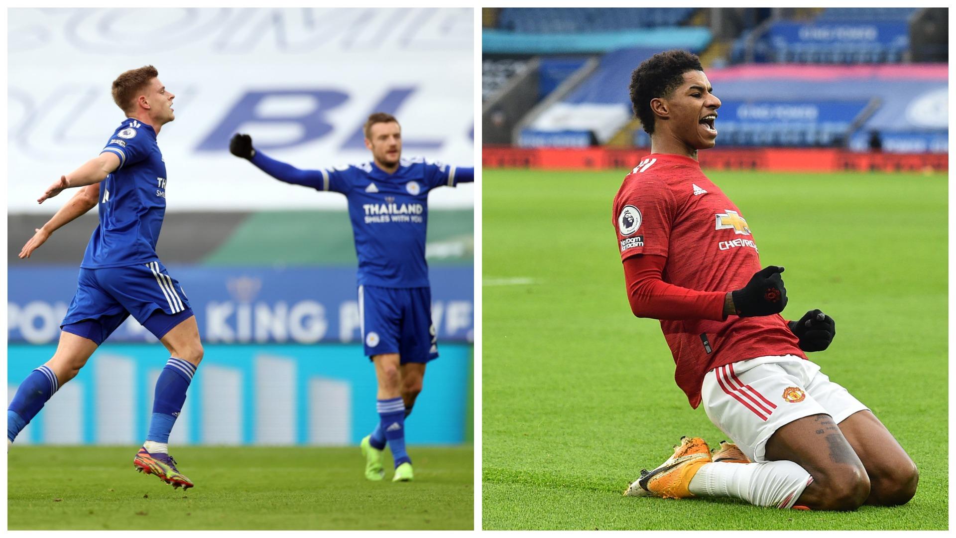 """VIDEO/ Shënon Rashford, por """"Dhelprat"""" përgjigjen shpejt. United-Leicester është """"zjarr"""""""