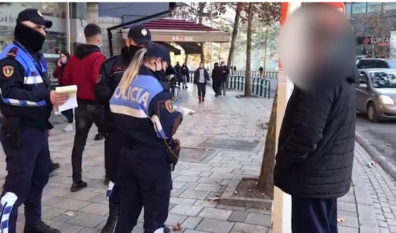 Në rrugë pa maska, ndëshkohen me gjobë 364 qytetarë