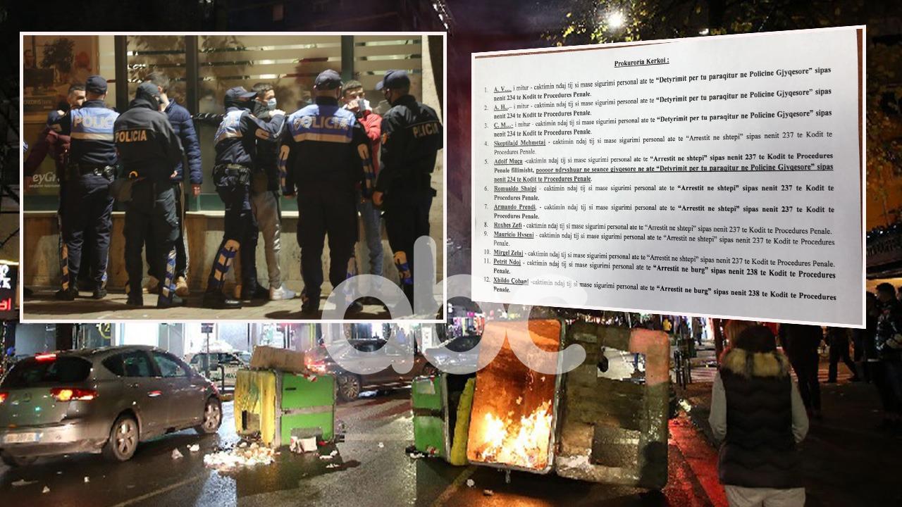 Incidentet në tubim, protestuesit e natës së dytë para gjykatës, 14 lirohen, 3 lihen në qeli