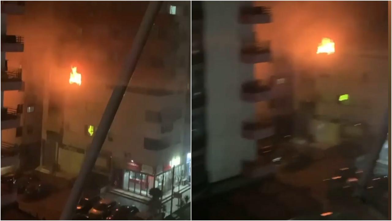 Tym e flakë, pallati në Tiranë përfshihet nga zjarri, alarmohen banorët