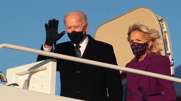 Biden zbarkon në Maryland në prag të inaugurimit të tij