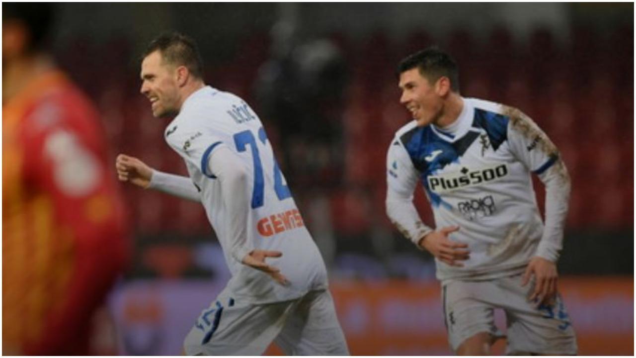 """VIDEO/ Atalanta shtyp Beneventon, Gjimshiti ndjek nga stoli suksesin me """"poker"""""""
