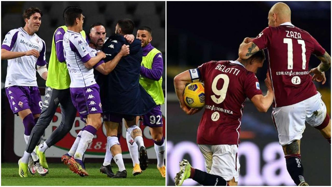 VIDEO/ Fiorentina reziston me 9 lojtarë, Belotti eviton turpërimin e Torinos