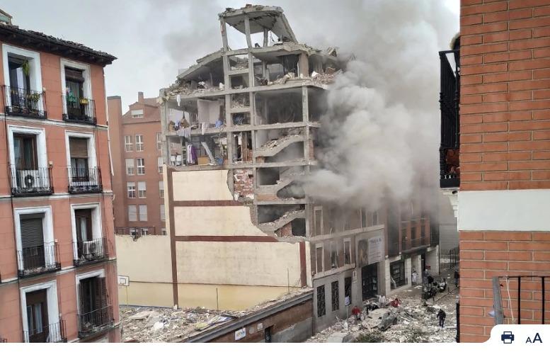 Të paktën 3 të vdekur nga shpërthimi në Madrid