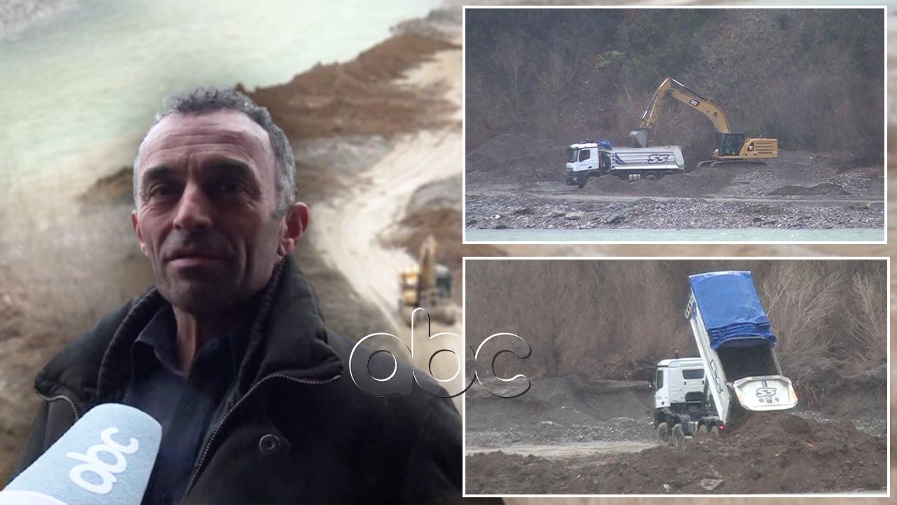 Kompania Salillari masakron lumin Mat, banorët: Hedhin inertet e Astirit dhe marrin zhavor