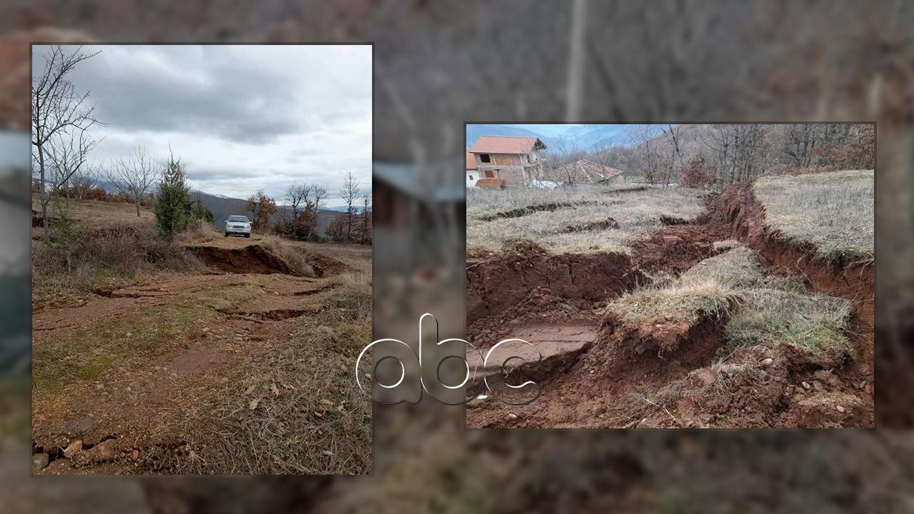 Reshjet e shiut shkaktojnë rrëshqitje të dherave në Librazhd, probleme në rrugë