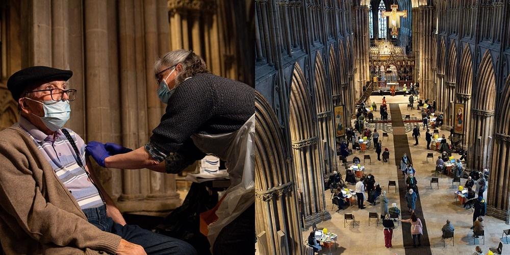 """""""Doza e shenjtë"""": Katedralja 826-vjeçare në Britaninë e Madhe kthehet në qendër vaksinimi"""