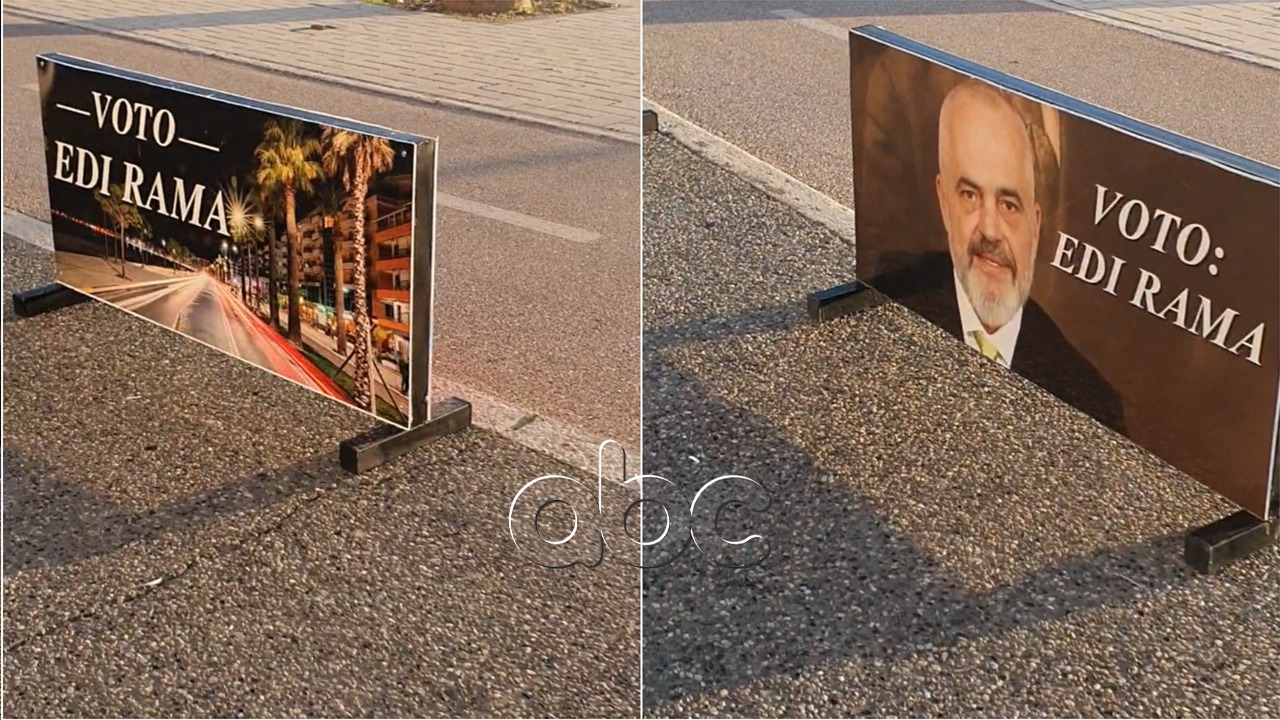 """""""Nis"""" fushata në Vlorë, postera përgjatë Lungomares: Votoni Edi Ramën!"""