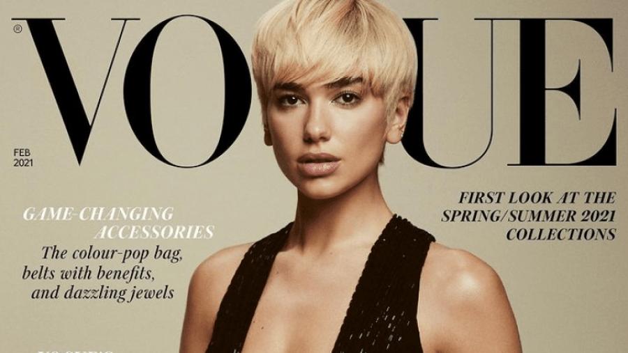 """Dua Lipa pushton kopertinën e revistës """"Vogue"""" me stilin e ri të flokëve"""