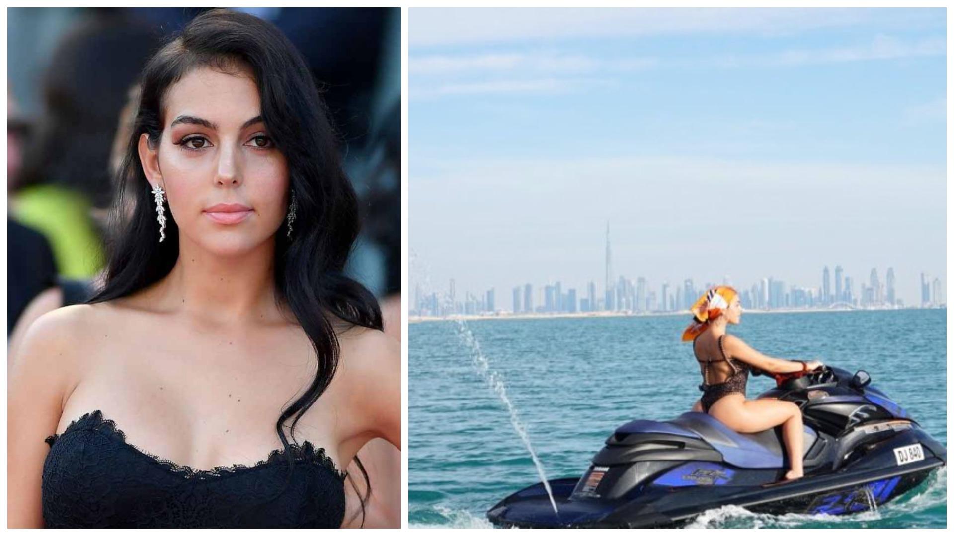 Georgina kujton Dubain, partnerja e CR7 tregon format perfekte në jet ski