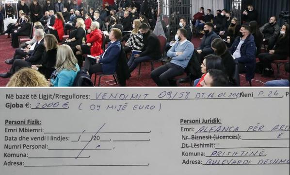 AAK dhe Nisma gjobiten me 2 mijë euro, shkelën rregullat anti-covid