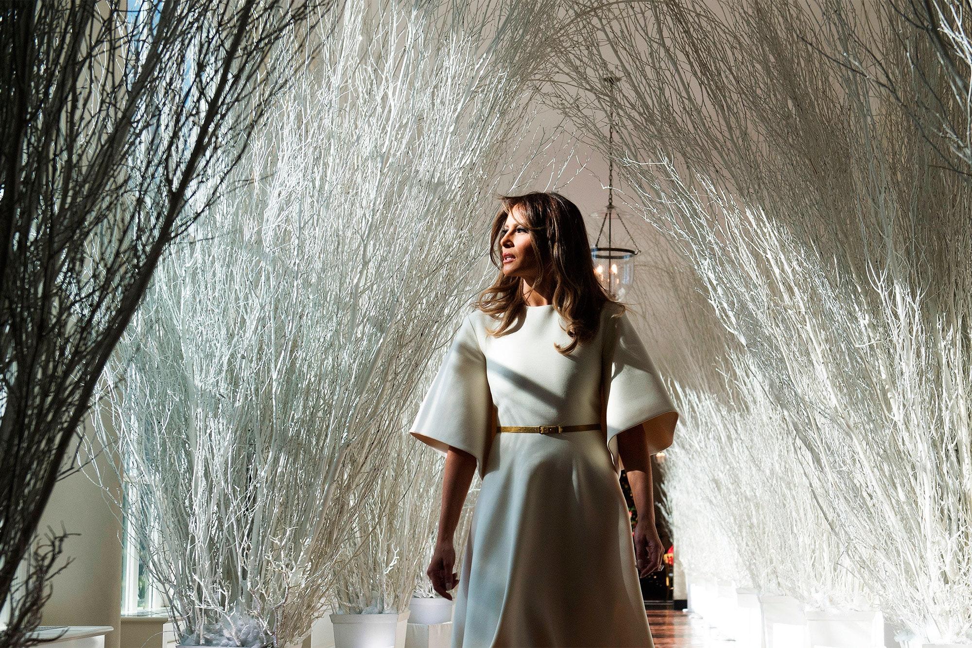 Çfarë po bënte Melania Trump kur ra Capitol