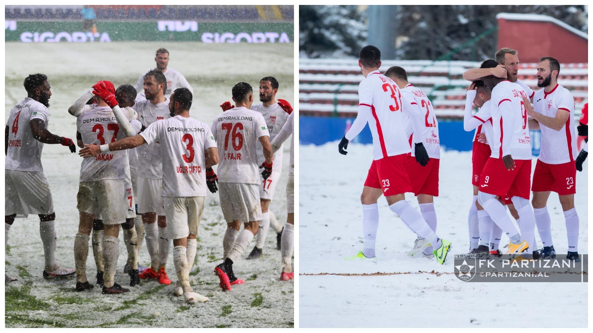 """VIDEO/ Të padukshëm në fushë, Partizani dhe Sivasspor bëhen """"hit"""""""