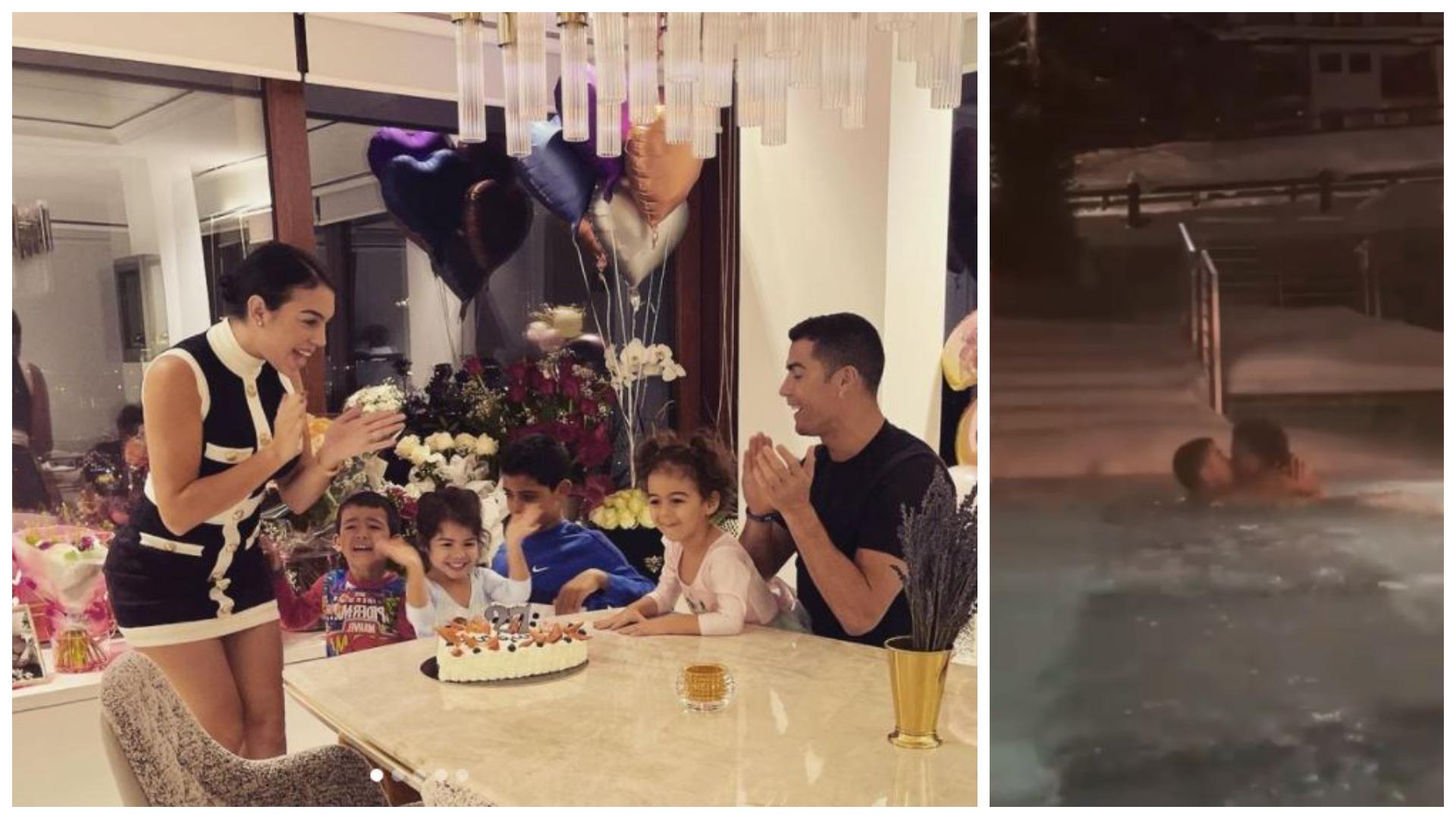 VIDEO/ Urimet e fëmijëve dhe natë e nxehtë me CR7, si shkoi ditëlindja e Georginas