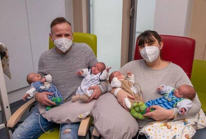 Ndodh një herë në 100 vjet, shqiptari bëhet baba i katërnjakëve në Gjermani