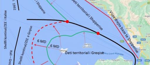 Më 19 janar Greqia zgjerohet me 12 milje në detin Jon, ABC zbardh projektligjin