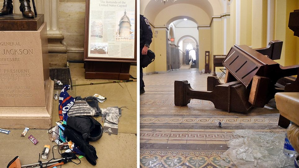 """""""Pushtimi"""" i Kapitolit: Çfarë s'u pa, imazhet e vandalizmit janë tronditëse"""