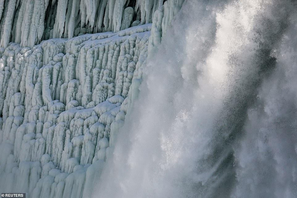Shihni pamjet spektakolare të ujëvarës Niagara, të ngrirë!