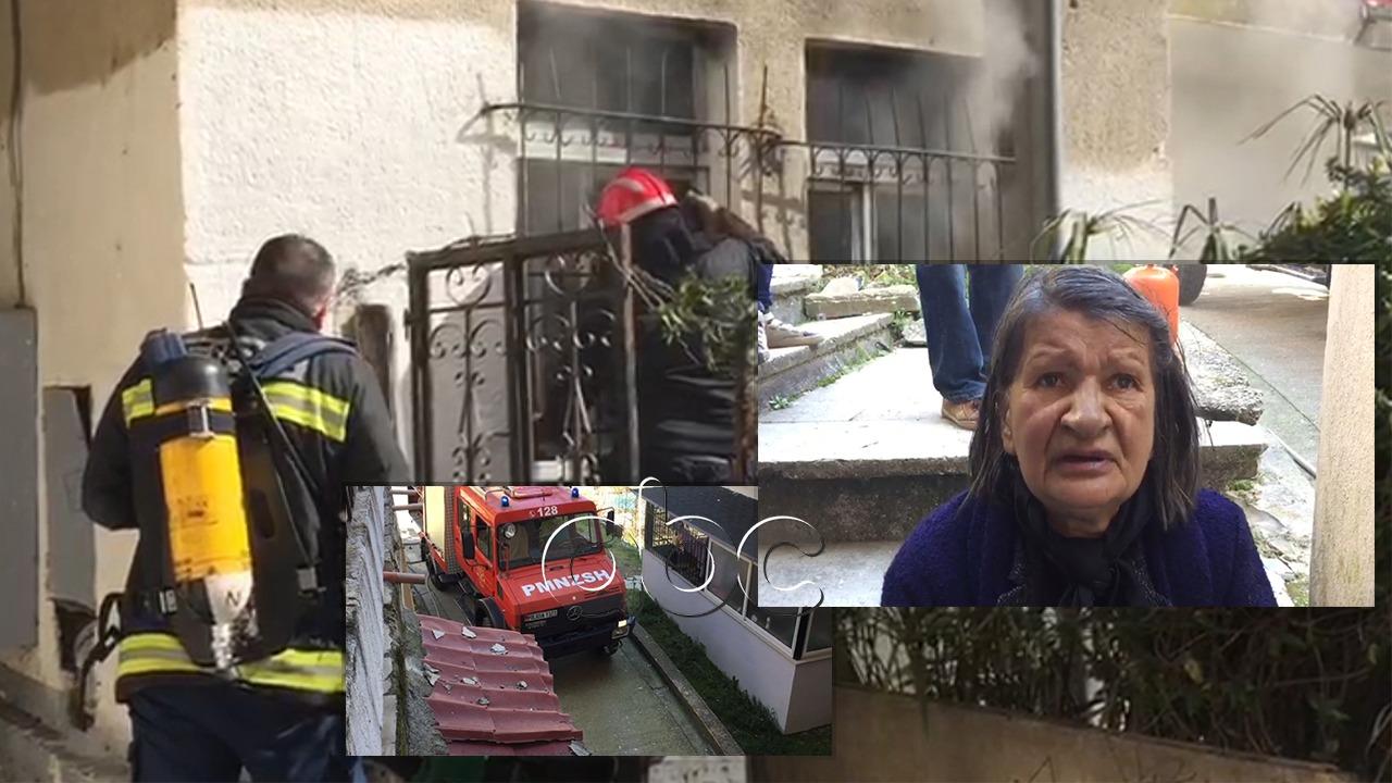 Harroi çarçafin mbi ngrohësen me gaz, i digjet shtëpia gruas në Gjirokastër