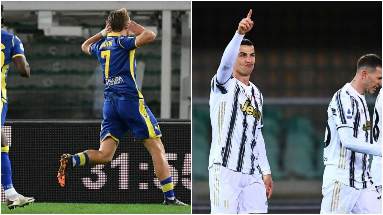 VIDEO/ Hap fals në Verona: CR7 nuk mjafton, Juventusi abonohet me barazime