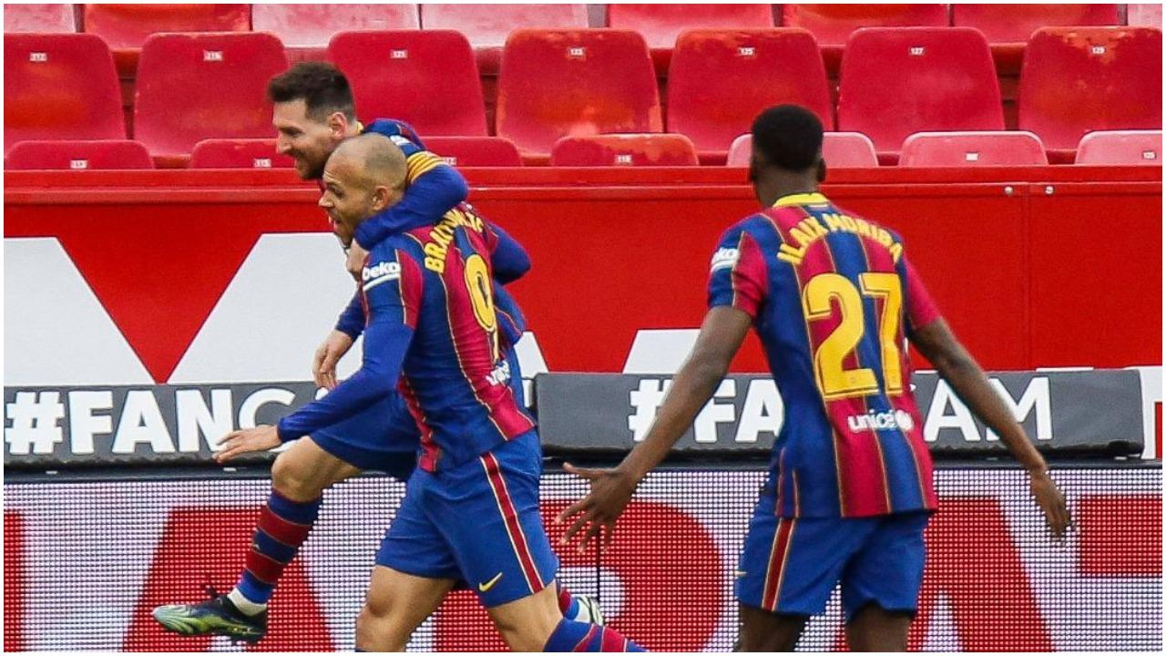 VIDEO/ Barcelona mposht Sevilla dhe afrohet me kreun, Messi fenomenal