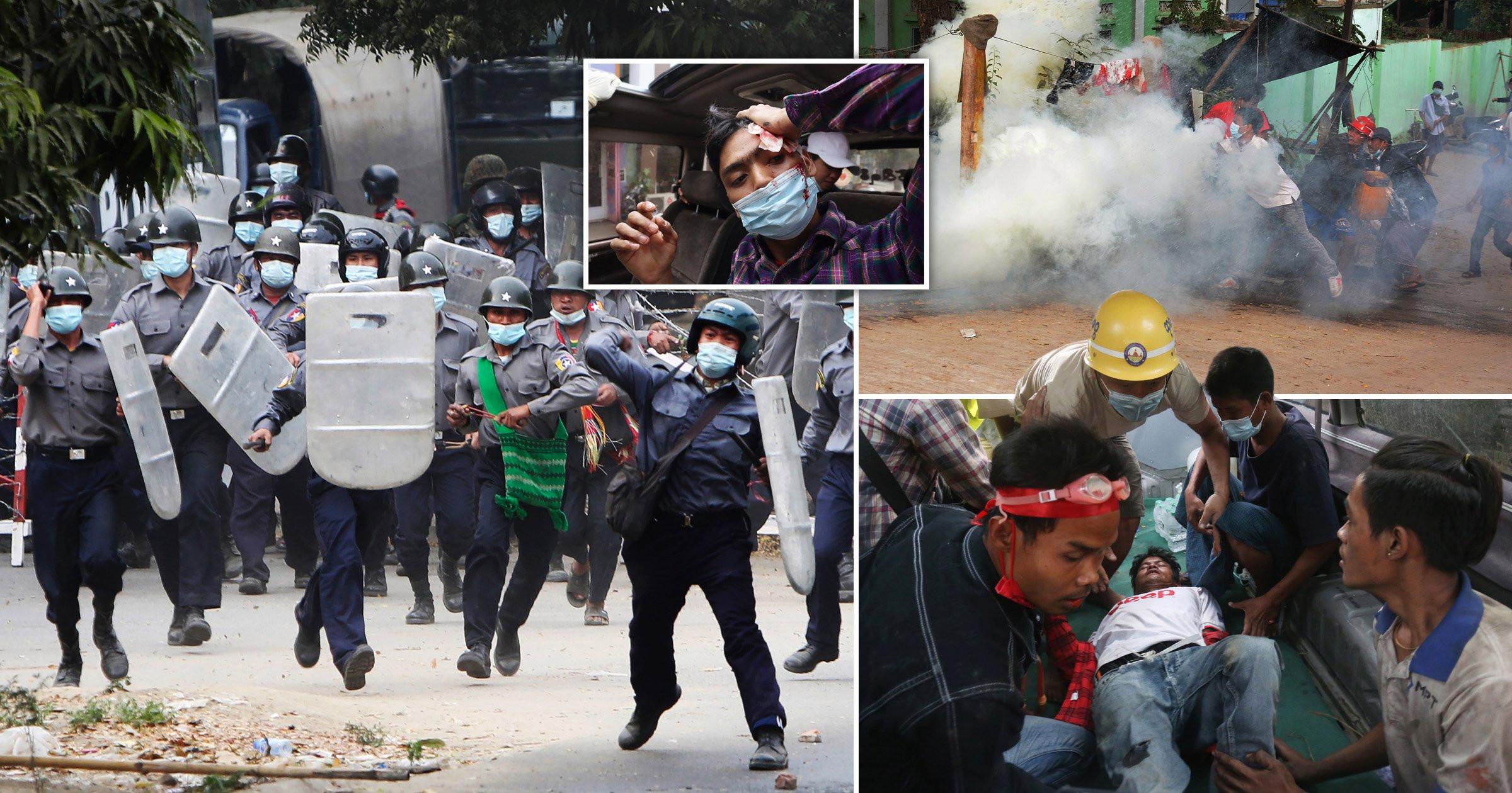 Trazirat në Mianmar, policia vret me armë zjarri dy protestues