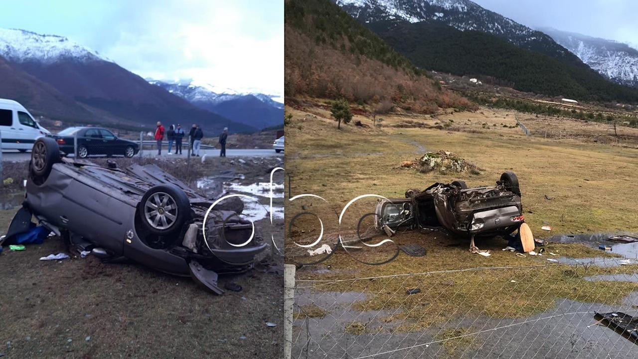 """Aksident i rëndë në Bulqizë, automjeti """"fluturon"""" nga rruga"""