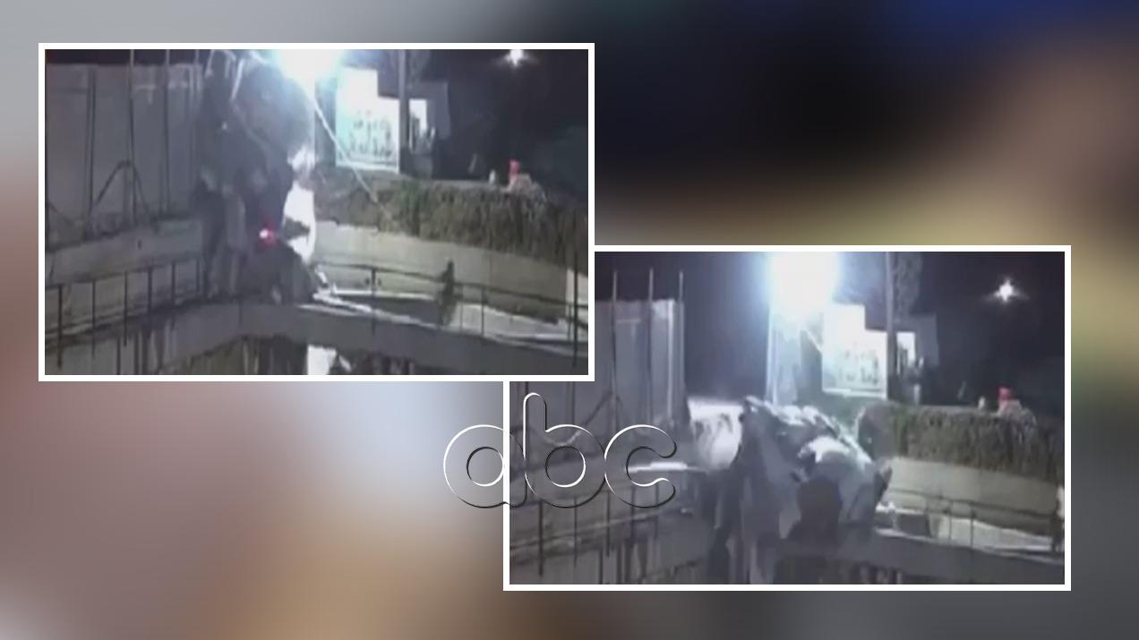 Momenti kur betonierja aksidentohet në Tiranë, shikoni si shpëton punëtori në kantier