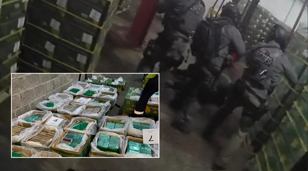 Rekord, kapet 2.3 ton kokainë në Britani, u trafikua mes bananeve nga Kolumbia